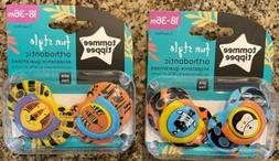 Tommee Tippee Fun Style Orthodontic Pacifiers 2 Packs Of 2 1