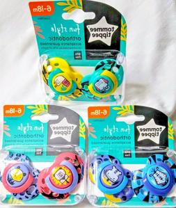 Tommee Tippee Fun Style Pacifiers 2-Pack 6-18m Buy More Save