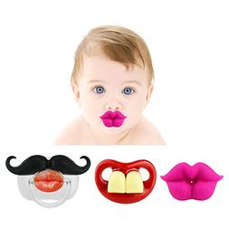 Funny Baby Mustache Pacifier: Cute Baby Pacifiers Designed w