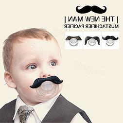 Saver Funny Mustache Pacifier Dummy Beard Nipples Baby Boy G