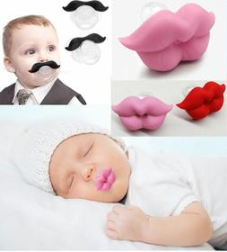 Funny Novelty Baby's Moustache Lip Dummies Dummy Pacifiers f