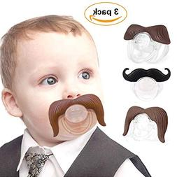 Baby Funny Pacifier Cute Kissable Mustache Lid Pacifier for