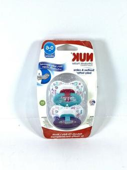 NUK 0-6 Months 2 Pack Geometric Shaped Orthodontic Pacifier