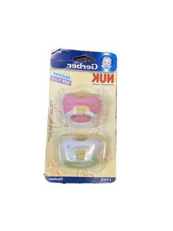 Gerber Nuk Silicone Pacifiers Size 1  Pink White Yellow Gree