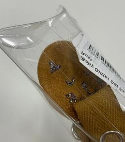aBaby Glitter Cat Face Pacifier Clip Rust -
