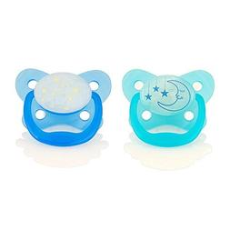 Dr. Brown's 6-12 Months Glow in the Dark Pacifier - Blue