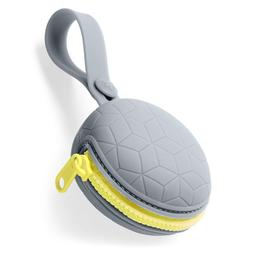 Skip Hop Grab & Go Silicone Pacifier Holder, Grey