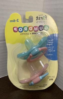 The First Years Gumdrop Hospital Pacifier with Ring, 3-6 Mon