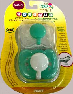 THE FIRST YEARS GUMDROP ORTHODONTIC PACIFIERS 2 PACK 0-6 MON