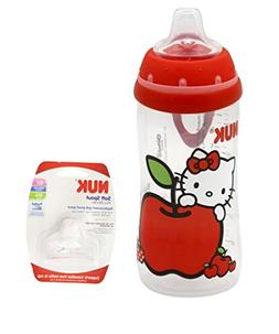 NUK Hello Kitty Silicone Spout Active Cup, 10 Ounce with NUK