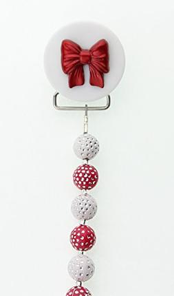 Crystal Dream Holiday Gift Red and White Beads Red Bow Pacif