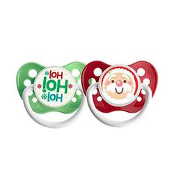 Ulubulu Holiday Pacifier, Christmas Santa Claus and HoHoHo,