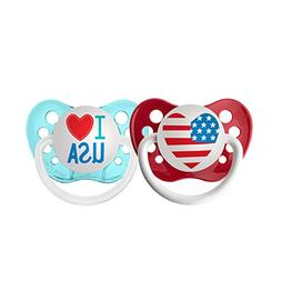 Ulubulu Holiday Pacifier, Fourth of July American Heart and