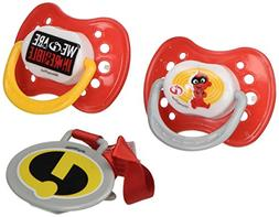 "Disney""Incredibles 2"" and Pacifier Clip Set, Red, 2 Count"