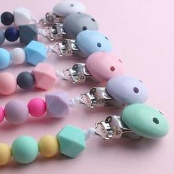 Infant Baby Silicone Dummy Clip Pacifier Chain Shower Gift f