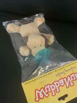 WubbaNub Infant Baby Soothie Pacifier Brown Puppy Brand New