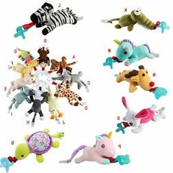 Baby Kids Pacifier Holder Hanging Removable Plush Cute Anima