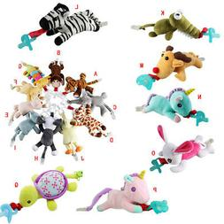 Infant Pacifier Holder Hanging Removable Plush Kid Baby Anim