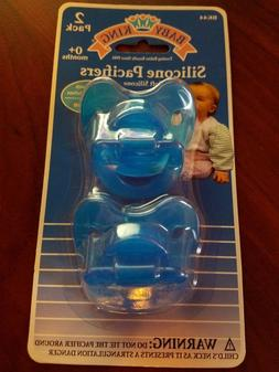INFANT BABY KING SILICONE PACIFIERS 2 PACK AGE 0+ MONTHS BPA
