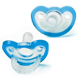 RaZbaby JollyPop Pacifier Plus, Blue/Teal.3 month+