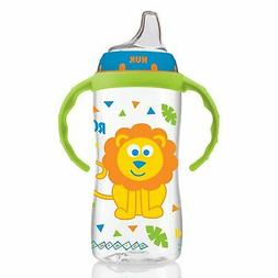 NUK Large Learner Sippy Cup, Blue Jungle Designs, 10oz 1pk