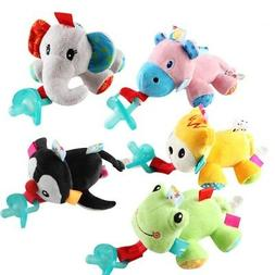 Kid Newborn Baby Dummy Pacifier Clip Animal Toy Plush Soothe