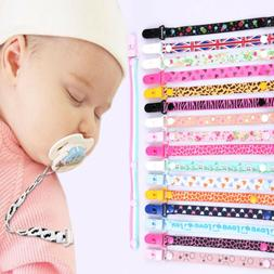 Kids Baby Boy Girl Dummy Pacifier Soother Nipple UK Strap Ch