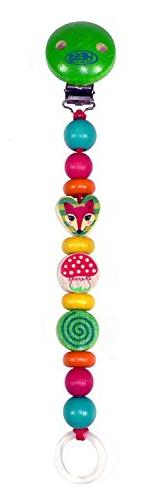 Hess 13712 Wooden Forest Animals Pacifier Holder Baby Toy, M