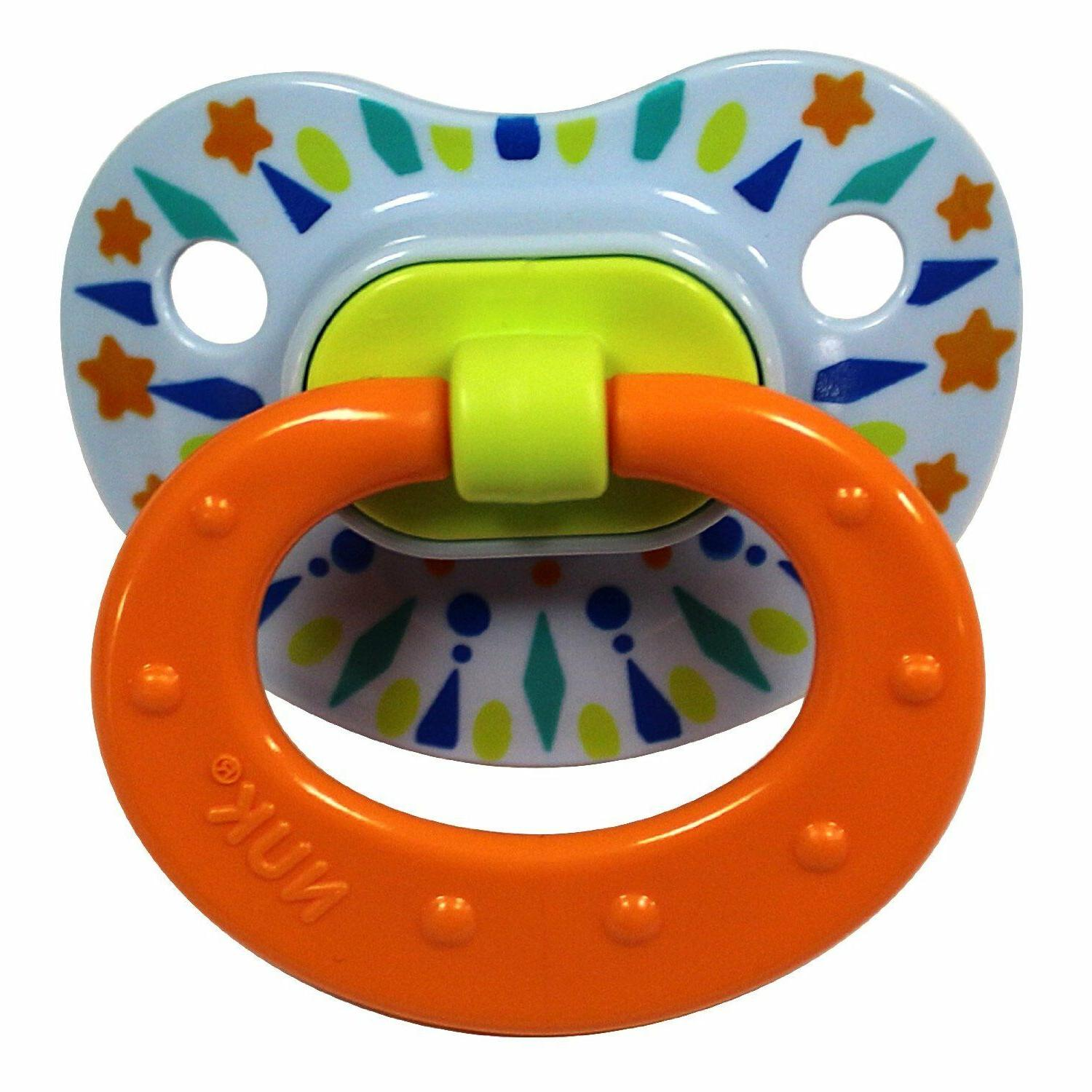 Nuk Tye Silicone Pacifier Boys Colors