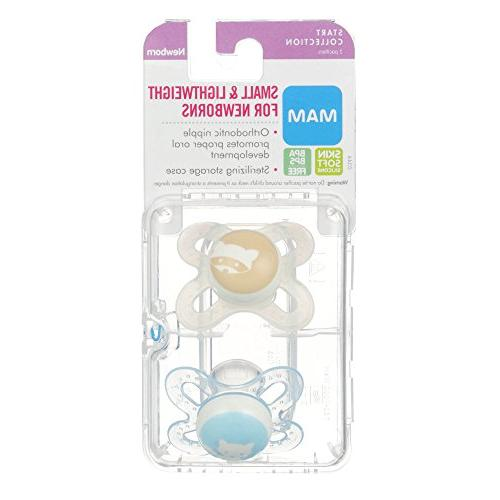 MAM Pacifiers, Pacifier, Best for Babies, 'Start' Design Boy, 2-Count