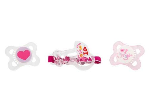 MAM Pacifiers and Pacifier Pacifier 0-6 Months Pacifier for Breastfed Love Mommy' Girl, 3-Count
