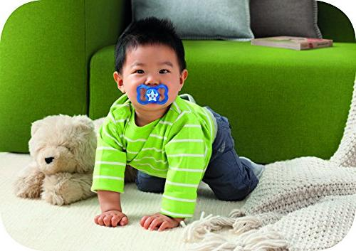 "MAM Baby Pacifier 6+ Best Pacifier Breastfed Babies, ""Air"" Boy,"