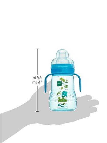 MAM Trainer Cups for Babies Handles, Boy, 8 Ounces, 1-Count