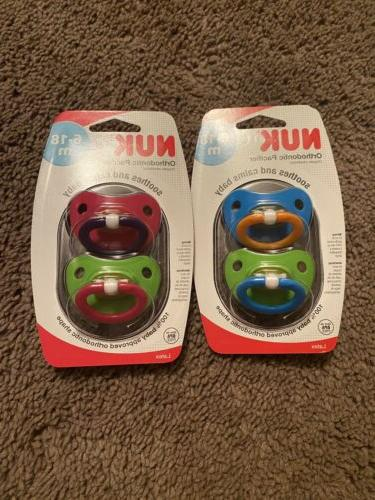 NUK Natural Shape Orthodontic Pacifiers, Latex, 18-36 Months