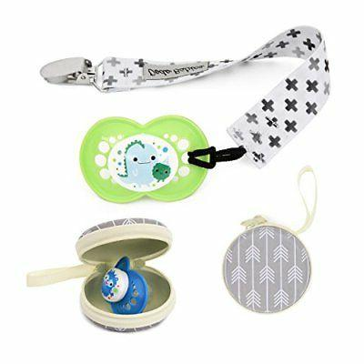 Pack of 4 Pacifier Premium Modern Holder Leash