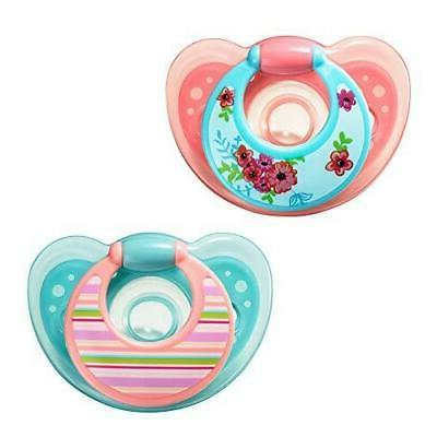 The First Years GumDrop Pacifier - Pink/Purple - 6 - 18 Mont
