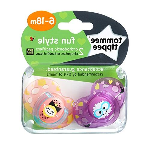 Tommee Tippee Closer to Nature Baby Pacifier, BPA-Free 6-18 Months,
