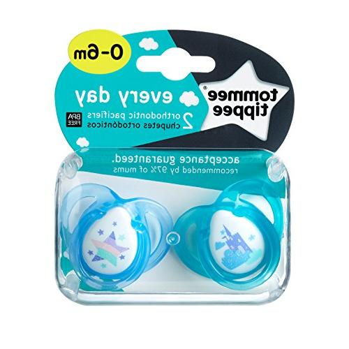 Tommee Everyday Pacifier, BPA-Free, Months, 2