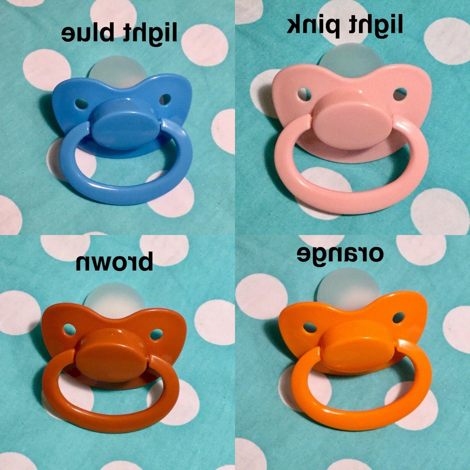 Adult Silicone Pacifier in 25 COLOR