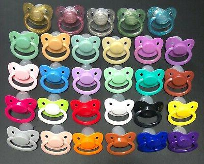 adult size pacifier available in 26 color