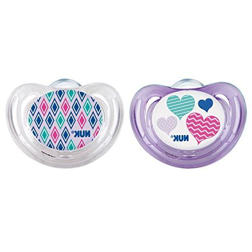 NUK Airflow Orthodontic Pacifier with Hearts Design, 6-18 Mo