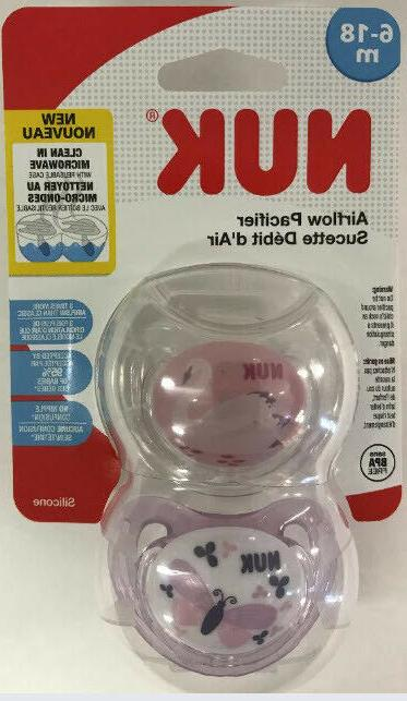 airflow orthodontic pacifiers girl 6 18 months