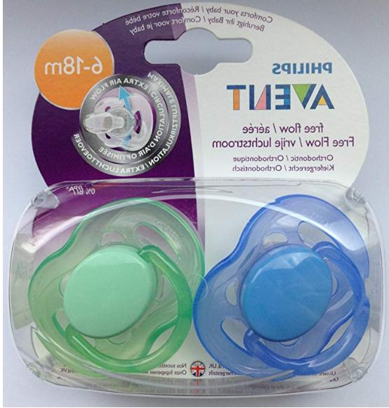avent freeflow pacifiers 6 18 months 2