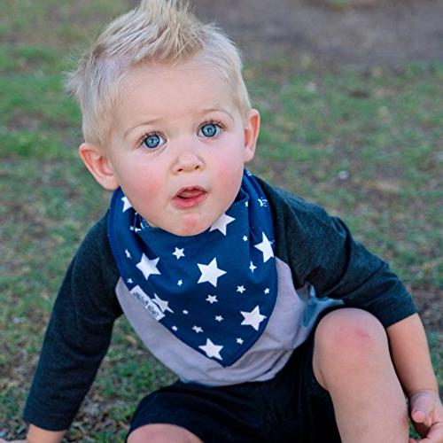 BabyBandana DroolBibs by Babies 2 Clips + in Gift Pack of 4 Quality Or Girls, Gift