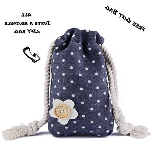 BabyBandana DroolBibs Dodo Clips + Case in Bag, Pack Quality for Girls, Gift