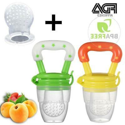 baby food pacifier fresh fruit feeder infant