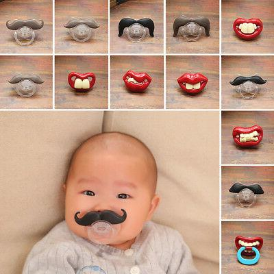 baby funny kids pacifier nipples teeth silicone