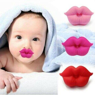 Newborn Baby Smoothie Pacifier Kiss Lips Shape Orthodontic F