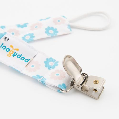 Babygoal Baby Girl Pacifier Clips with Pacifier Case, 4 Teething &