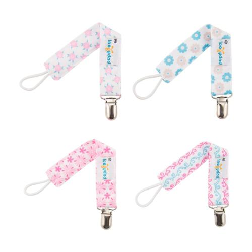 Babygoal Girl Pacifier Clips with Pacifier Case, 4 Metal &